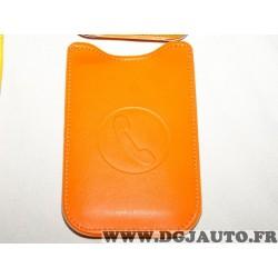 Etui pochette logo orange protection telephone portable mobile GSM Auxence