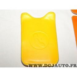 Etui pochette logo jaune protection telephone portable mobile GSM Auxence