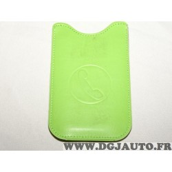 Etui pochette logo verte protection telephone portable mobile GSM Auxence