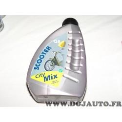 Bidon 1L 1 litre huile scooter moteur 2T 2 temps Q8 city mix