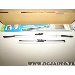 Paire balais essuie glace 600mm + 380mm souple silencio xtrm valeo VM397 574388 pour nissan qashqai partir de mars 2007