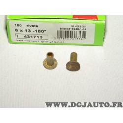 Boite de 100 rivets 6x13-180 fixation machoires de frein valeo 431713