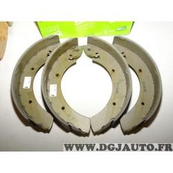 Jeux 4 machoires de frein arriere 254x57mm montage lucas 562025 pour renault master trafic mercedes MB100 nissan trade