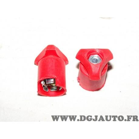 1 Cosse rouge branchement batterie molette positive 8KX742696-011 pour renault talbot panhard simca peugeot alpine