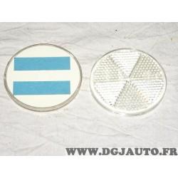 1 Catadioptre reflecteur rond blanc à coller 8RA002014-091 universel pour véhicules auto poids lourd tracteur engin agricole cha