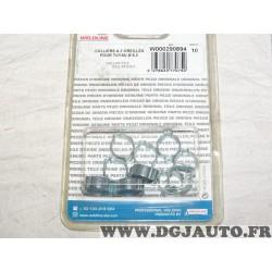 Blister 10 colliers serrage tuyau 6.3mm gaz poste à souder 2 oreilles Weldline W000290894