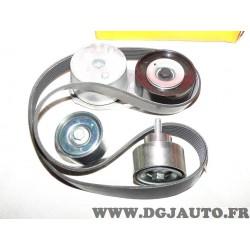 Kit courroie accessoire 8PK1230 courroie + galets K018PK1230ES pour iveco eurocargo eurfire 100E 110E 120E 120EL 130E 140E 150E