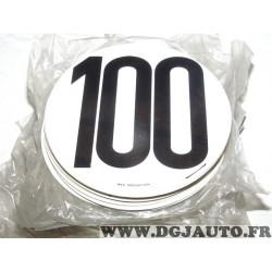 Plaque plastique PVC ronde information limitation vitesse 100 100KM/H FSER tracteur poids lourd engin agricole bus