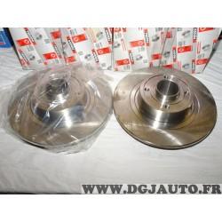 Paire disques de frein arriere 270mm diametre plein sans roulement DDF1443 pour renault megane 2 II scenic 2 II