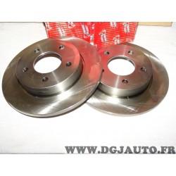 Paire disques de frein arriere 265mm diametre plein DDF1420 pour mazda 3 BK BL