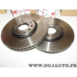 Paire disques de frein avant 314mm diametre ventilé DDF1237 pour opel signum vectra C saab 93 9-3