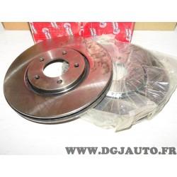 Paire disques de frein avant 302mm diametre ventilé DDF1372 pour fiat freemont lancia chrysler voyager dodge caravan