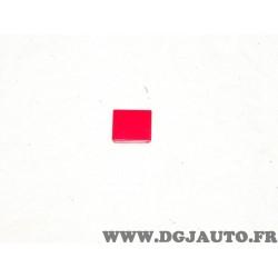 Plaque plaquette etiquette rouge interrupteur touche temoin 9XT713630-021 adaptable universel pour auto poids lourd tracteur eng