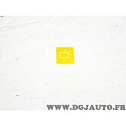 Plaque plaquette etiquette jaune interrupteur touche temoin gyrophare 9XT713630-711 adaptable universel pour auto poids lourd tr