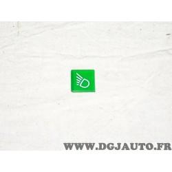 Plaque plaquette etiquette verte interrupteur touche temoin phare 9XT713630-371 adaptable universel pour auto poids lourd tracte