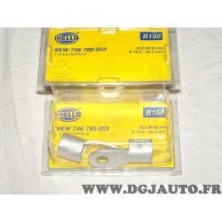 Boite 2 fiches sertie connecteur electrique branchement faisceau cable 70-95mm² universel B150 8KW746780-003 pour véhicules auto