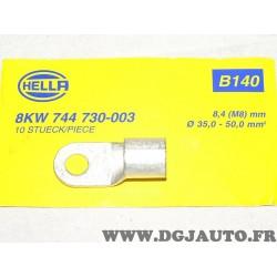 1 Fiche sertie connecteur electrique branchement faisceau cable 35-50mm² universel B140 8KW744730-003 pour véhicules auto poids