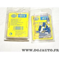 Boite de 12 cosses bague connecteur electrique branchement faisceau cable 1.5-2.5mm² universel A14 8KW044027-812 pour véhicules