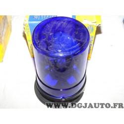 Gyrophare feu tournant bleu 24V 2RL004958-011 adaptable universel poids lourd tracteur engin agricole