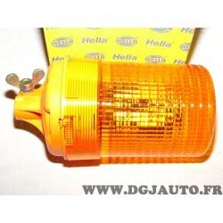 Gyrophare feu tournant orange 12V 2RL004957-101 adaptable universel poids lourd tracteur engin agricole