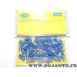Boite de 100 connecteurs electrique fiche sertie branchement faisceau cable 1.5-2.5mm² universel A134 8KW744770-003 pour véhicul