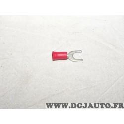 Lot de 10 cosses fourche connecteur electrique branchement faisceau cable 0.5-1mm² universel A123 8KW744779-003* pour véhicules