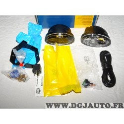 Paire phares antibrouillard FF50 nebel 1NA008283-801 adaptable universel auto poids lourd tracteur engin agricole 4x4