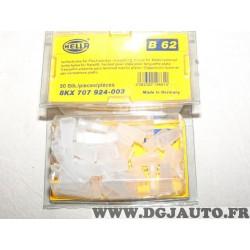 1 Boite de 50 connecteurs de cable electrique douille plate branchement faisceau universel B62 8KX707924-003 pour véhicules auto