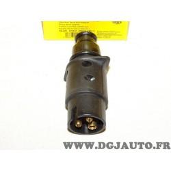 Prise attelage attache remorque faisceau electrique 3 fiches 24V 8JA002263-001 pour poids lourd tracteur engin agricole remorque