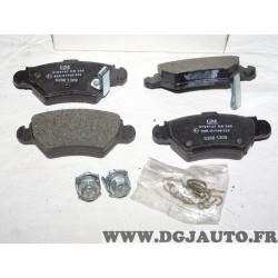 Jeux 4 plaquettes de frein arriere montage bendix bosch 9195147 pour opel astra G zafira A corsa C