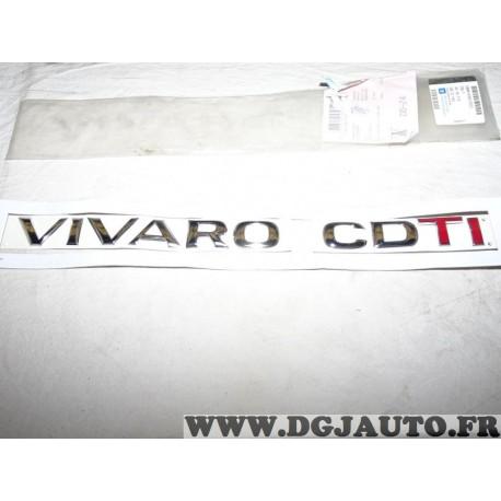 Logo motif embleme monogramme ecusson 93857822 pour opel vivaro CDTI vivero A