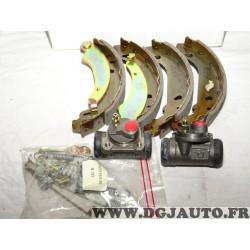 Kit frein arriere 180x30mm montage bendix 8671003904 pour peugeot 206 dont SW 206+