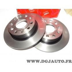 Paire disque de frein arriere plein 253mm diametre DF4276 pour audi A3 seat altea leon 1 2 3 I II III toledo 3 III skoda octavia