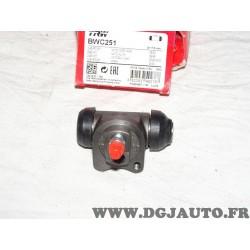 1 Cylindre de roue frein arriere montage TRW BWC251 pour chevrolet daewoo matiz spark M200 M250