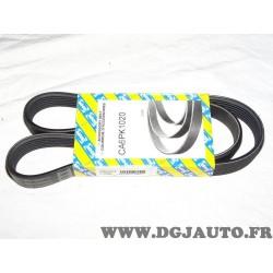 Courroie accessoire 6PK1020 pour mercedes 190 W201 W124 W126 W601 W602 T1 TN lada kalina chrysler voyager