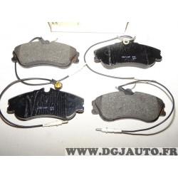 Jeux 4 plaquettes de frein avant montage lucas 7701414217 pour citroen C25 peugeot J5 fiat ducato