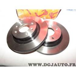 Paire disques de frein avant 252mm diametre ventilé DF6116 pour hyundai i10 kia picanto