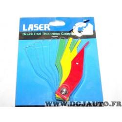 Jauge epaisseur plaquettes de frein kit cadran de 2 à 12mm lasertools 5848