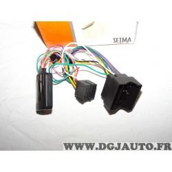 Interface faisceau avec boitier commande au volant autoradio poste radio E01UN00008 pour citroen C2 C3 C4 C5 C8 DS3 berlingo 2 I