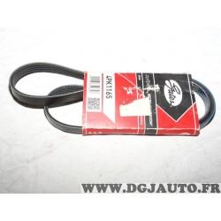 Courroie accessoire Gates 4PK1165 pour renault twingo 1 honda CRZ CR-Z insight