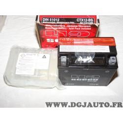 Batterie avec acide type 42sceed YTX12-BS CTX12-BS pour moto aprilia daelim piaggio kymco honda triumph