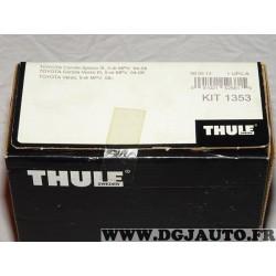 Kit pieds fixation barre de toit Thule KIT1353 pour toyota corolla spacio de 2004 à 2008 verso partir de 2009