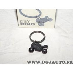 Porte clé métal noir moto Key ring metalmorphose