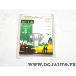 Ampoule 3 leds 2.5 watts blanc chaud 140 lumens Koonekt MR11-3C MR11