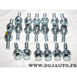 Lot 20 boulons conique M12X1.25 SW19 fixation roue jante Norauto 320377 801116811Z