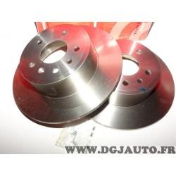 Paire disques de frein arriere plein 286mm diametre Brembo 08701510 pour opel vectra B dont break