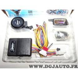 Kit alarme antivol beeper XR6 bidirectionnelle avec telecommande capteur de choc etanche pour moto scooter