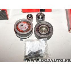 Ensemble galet tendeur + enrouleurs courroie de distribution (non incluse) Gates K015648XS pour audi A3 A4 A5 A6 Q5 TT seat alte
