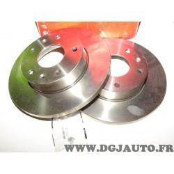 Paire disques de frein 262mm diametre plein Brembo 08781410 pour land rover freelander L314