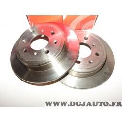 Paire disques de frein arriere 239mm diametre plein Brembo 08710414 pour honda accord 3 III CA civic 4 6 IV VI EC ED EE MA MB MC